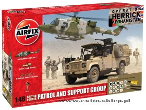 AIRFIX 50123 - 1:48 British Forces Patrol and Support Group - Afghanistan (Gift Set)