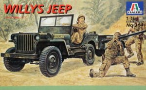ITALERI 0314 - 1:35 Willis MB Jeep with Trailer