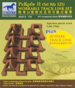 BRONCO AB 3513 - 1:35 Pz.II workable track set