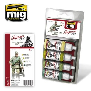 AMMO MIG 7023 - Soviet Uniforms WWII - Figures Set