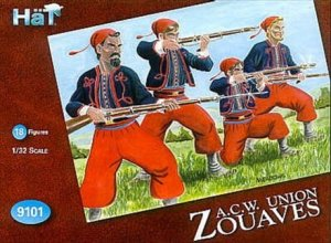 HAT 9101 - 1:32 American Civil War Zouaves 2nd set
