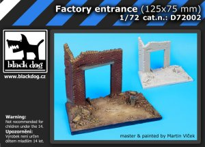 BLACK DOG D72002 - 1:72 Factory entrance (125x75 mm) - base