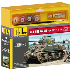 HELLER 49892 - 1:72 M4 Sherman D-Day