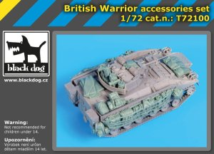 BLACK DOG T72100 - 1:72 British Warrior accessories set