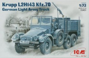 ICM 72451 - 1:72 Krupp L2H143 Kfz.70, German Light Army Truck