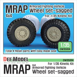 DEF MODEL DW35064 - 1:35 MRAP Sagged Wheel set