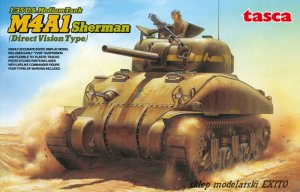 ASUKA (TASCA) 35025 - 1:35 U.S. Medium Tank M4A1 Sherman (Direct Vision Type)