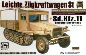 AFV CLUB 35047 - 1:35 Sd.Kfz. 11 Late with Wood Cab