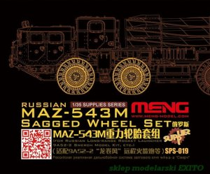 MENG MODEL SPS019 - 1:35 Russian MAZ-543M Sagged Wheel Set