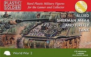 PLASTIC SOLDIER V20015 - 1:72 Allied M4A4 Sherman and Firefly Tanks (3 pcs)