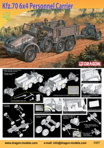 DRAGON 7377 - 1:72 Kfz.70 6x4 Personnel Carrier
