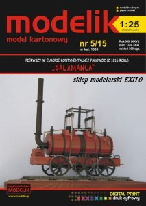 MODELIK 1505 - 1:25 Salamanca - first steam locomotive in continental Europe 1816