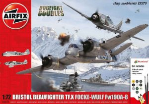 AIRFIX 50171 - 1:72 Beaufighter & Focke Wulf Fw 190A-8 - Dogfight Doubles Gift Set