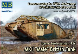MASTER BOX 72001 - 1:72 MK I  Male - British Tank - Somme Battle period, 1916