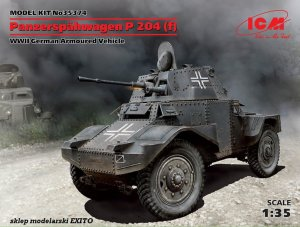 ICM 35374 - 1:35 Panzerspahwagen P-204 (f) WWII German Armoured Vehicle