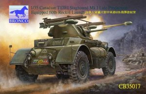 BRONCO CB 35017 - 1:35 Canadian T17E1 Staghound Mk1 Late with 60lb Rockets