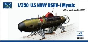 RIICH MODELS 28009 - 1:350 U.S.Navy Deep Submergence Rescue Vehicle DSRV-1 Mystic - 2 kits