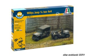 ITALERI 7506 - 1:72 Willys Jeep 1/4 ton 4x4