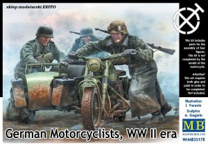 MASTER BOX 35178 - 1:35 German Motorcyclists WWII era