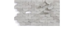 JUWEELA 28093 - 1:87 Paving-stones type W dark grey 2000 pcs