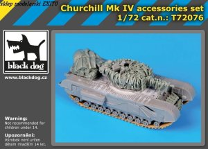 BLACK DOG T72076 - 1:72 Churchill Mk.IV accessories set