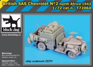 BLACK DOG T72064 - 1:72 British SAS Chevrolet N°2 North Africa 1942