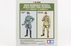 TAMIYA 25154 - 1:35 WWII Wehrmacht Officer & Africa Corps Tank Crewman