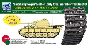 BRONCO AB 3541 - 1:35 Panther Early Type Workable Track Link Set