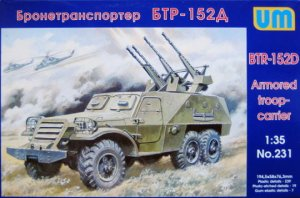 UNIMODELS 231 - 1:35 BTR-152D Soviet armored car