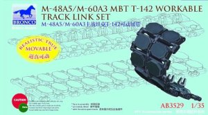 BRONCO AB 3529 - 1:35 US M-60A3 MBT T-142 Workable Track Link Set