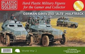 PLASTIC SOLDIER V20022 - 1:72 German Sd.Kfz.250 w/ 5 variant options