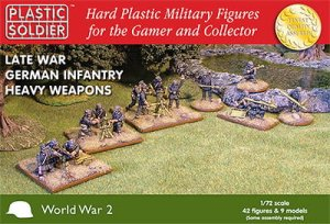 PLASTIC SOLDIER 15005 - 15 mm Late War German Infantry Heavy Weapons