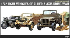 ACADEMY 13416 - 1:72  WWII ground vehicle set