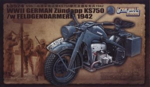 GREAT WALL HOBBY 3524 - 1:35 German Zundapp KS750 w/ Feldgenadarmerie 1942