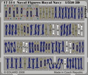 EDUARD 17514 - 1:350 Naval Figures Royal Navy 3D