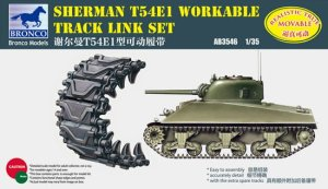 BRONCO AB 3546 - 1:35 Sherman T54E1 Workable Track Link Set