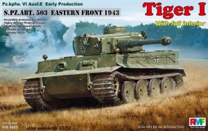 RYE FIELD MODEL 5003 - 1:35 Pz.Kpfw.VI Ausf.E Tiger I w/ Full Interior