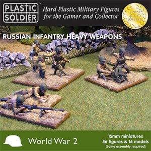 PLASTIC SOLDIER 15004 - 15 mm Russian Infantry Heavy Weapons