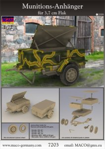 MACO 7203 - 1:72 Munitions-Anh. for 3,7 cm Flak