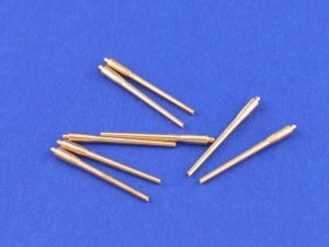 ABER 1:700L-01  - 1:700 Set of 8 pcs 380 mm long barrels for turrets without antiblast covers ships Richelieu, Jean Bart