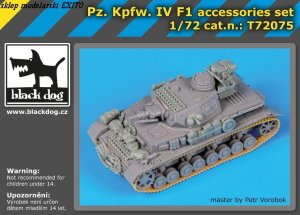 BLACK DOG T72075 - 1:72 Pz.Kpfw. IV F1 accessories set