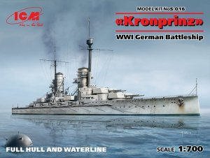 ICM S.016 - 1:700 Kronprinz WWI German Battleship