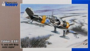 SPECIAL HOBBY 48073 - 1:48 Fokker D.XXI 4.sarja with Wasp Junior engine