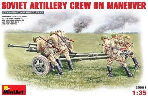 MINIART 35081 - 1:35 Soviet Artillery Crew on Maneuver - 5 figures with gun ZiS-3
