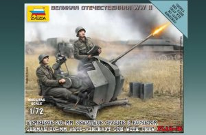 ZVEZDA 6117 - 1:72 German 20 mm Anti-Aircraft Gun FLAK-38 with crew