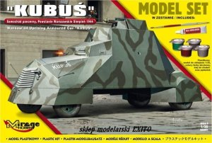 MIRAGE 835091 - 1:35 Armoured Car Kubuś - Warsaw Uprising 1944 - Model Set