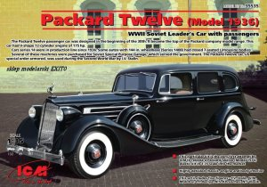 ICM 35535 - 1:35 Packard Twelve (Model1936) WWII Soviet Leader's Car w/passengers (5 figures)