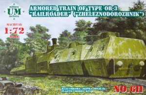 UNIMODELS 611 - 1:72 Armored Train type OB-3