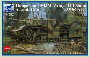 BRONCO CB 35036 - 1:35 Hungarian 40/43M Zrinyi II 105mm Assault Gun