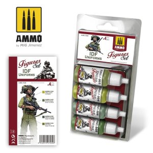 AMMO MIG 7030 - IDF Uniforms - Figures Set 4 x 17 ml